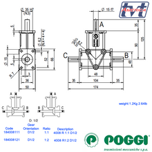 Load image into Gallery viewer, Poggi bevel gearbox 4008