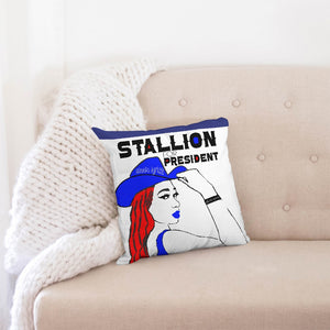 "Meg for Prez Throw Pillow Case 16""x16"""