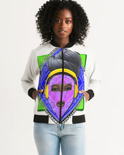 Load image into Gallery viewer, I Don't Care All-Over Print Hoodie Women's Bomber Jacket