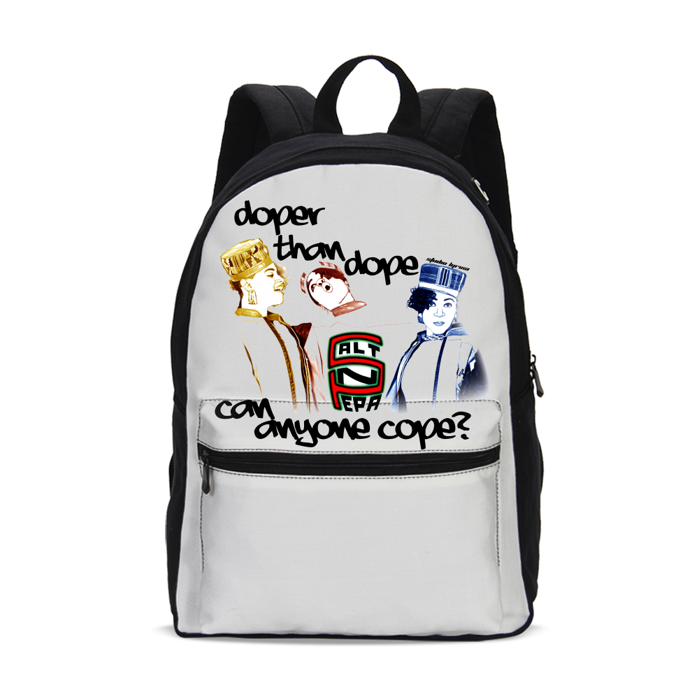 """Doper than Dope"" Canvas Backpack"