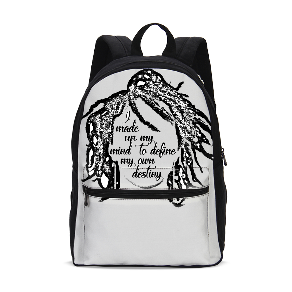 """My Own Destiny"" Canvas Backpack"