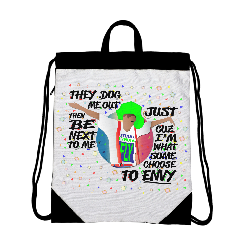 To Envy Canvas Drawstring Bag