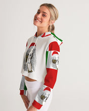 Load image into Gallery viewer, Have a Very Remy Christmas! Women's Cropped Hoodie