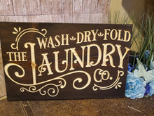 Load image into Gallery viewer, Wash dry fold the laundry co