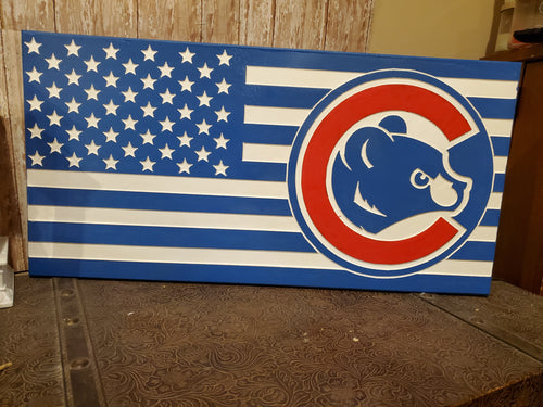 Red white and blue cubbie bear