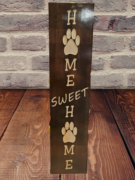 Home sweet home with paw prints