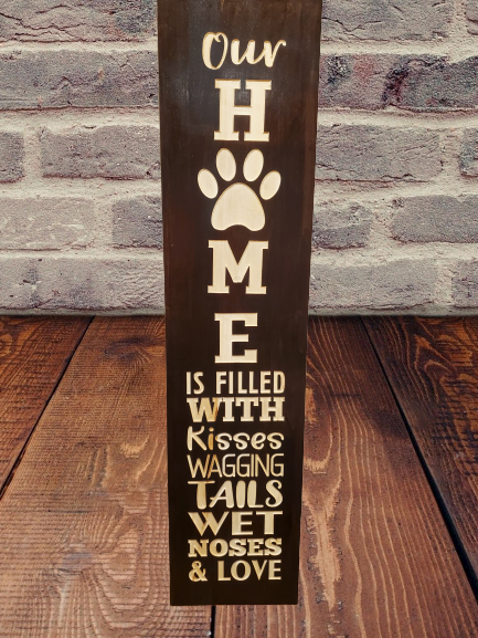 OUR HOME WITH PAW PRINT