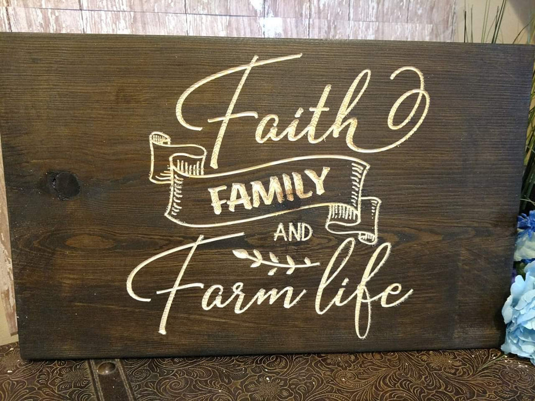 Faith family and farm life