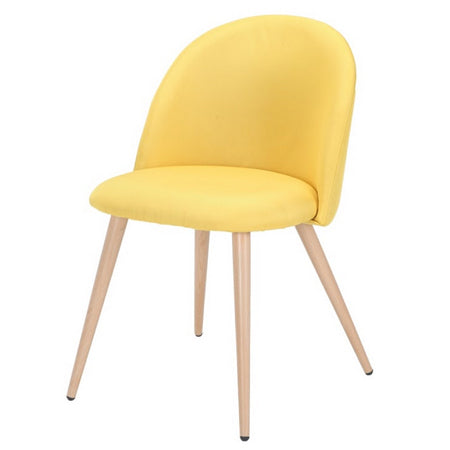 Chaise Scandinave Tissu Jaune moutarde