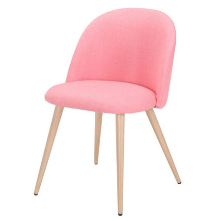 Chaise Scandinave Tissu Rose poudré