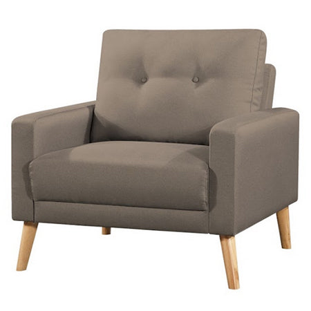 Fauteuil Scandinave Tissu Taupe