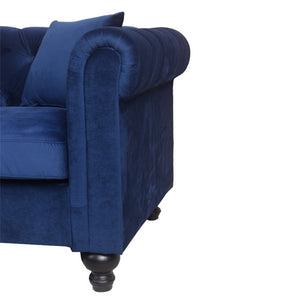 Canapé INSPI Chesterfield 3 Places Bleu