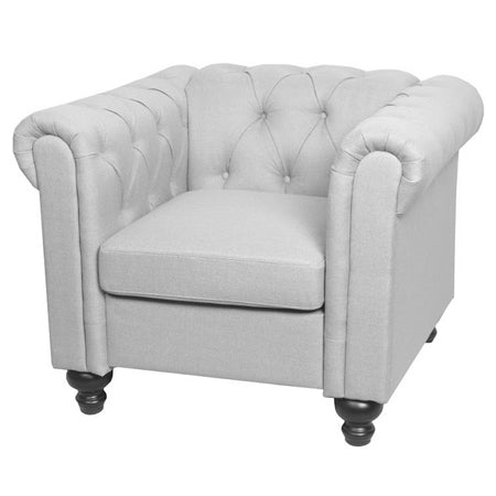 Fauteuil Club INSPI Chesterfield Gris