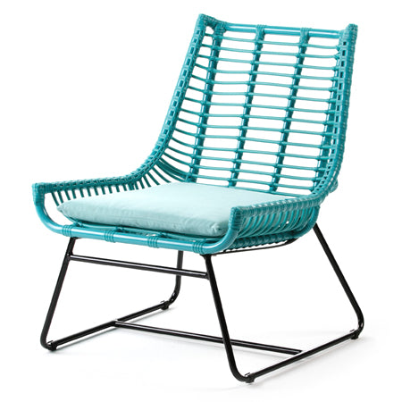 Fauteuil 63x70x79 Aluminium/Synthétique Turquoise