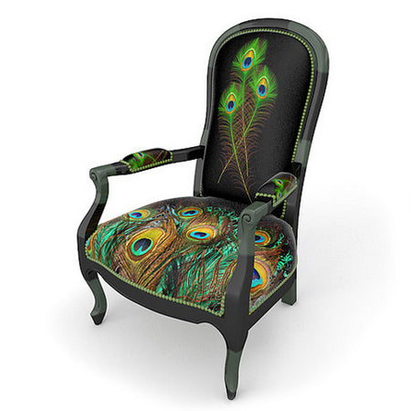 Fauteuil Voltaire Paon