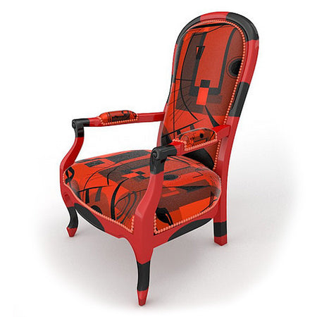 Fauteuil Voltaire Red Black