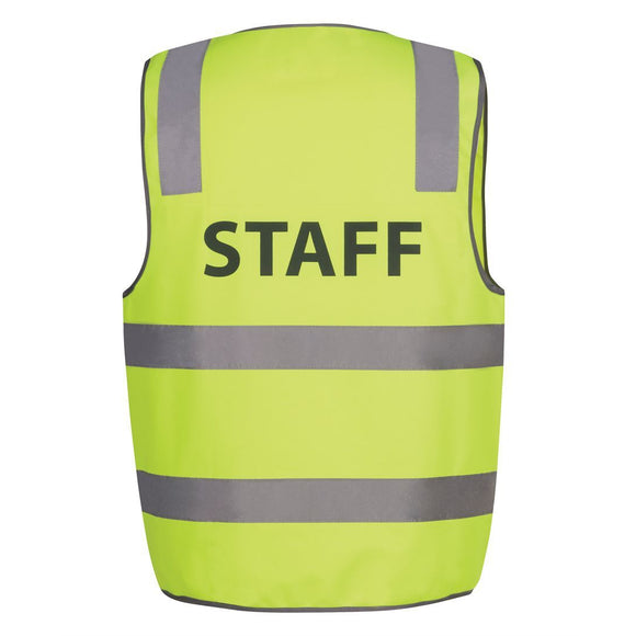6DNS HI VIS D&N SAFETY VEST WITH PRINT