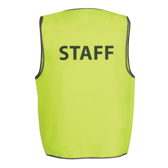 6HVS HI VIS SAFETY VEST WITH PRINT