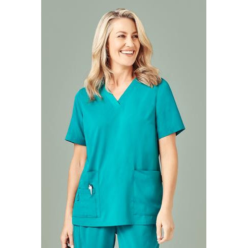 CST941LS WOMENS V NECK SCRUB TOP