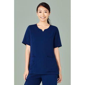 CST942LS WOMENS ROUND NECK SCRUB TOP