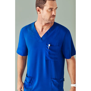 CST945MS MENS V NECK SCRUB TOP