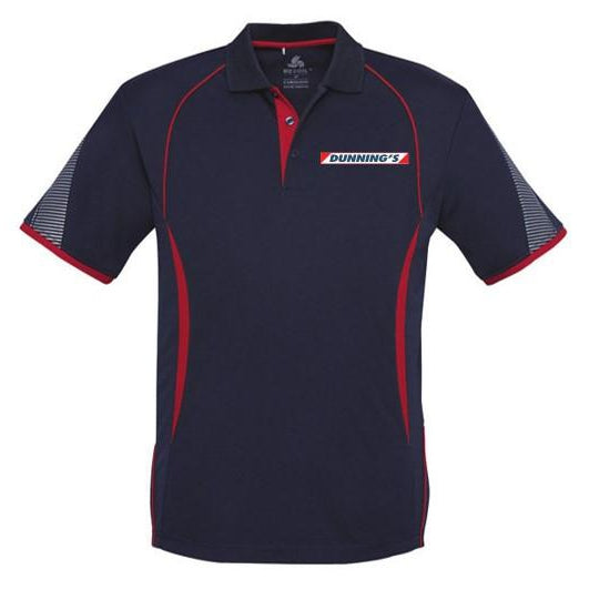 DUNNING'S P405MS MEN'S RAZOR POLO - NAVY/RED