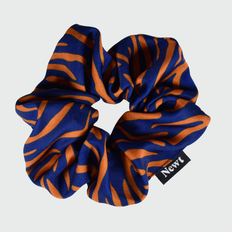 Bronze Shima Print Silky Hair Scrunchie