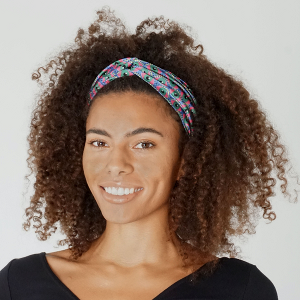Eye of Newt Print Twist Knot Headband