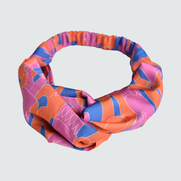 Yammy's Dancers Print Twist Knot Headband