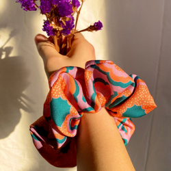 Zesty Print Hair Scrunchie