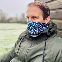 Green Shima Print Unisex Neckwarmer Snood