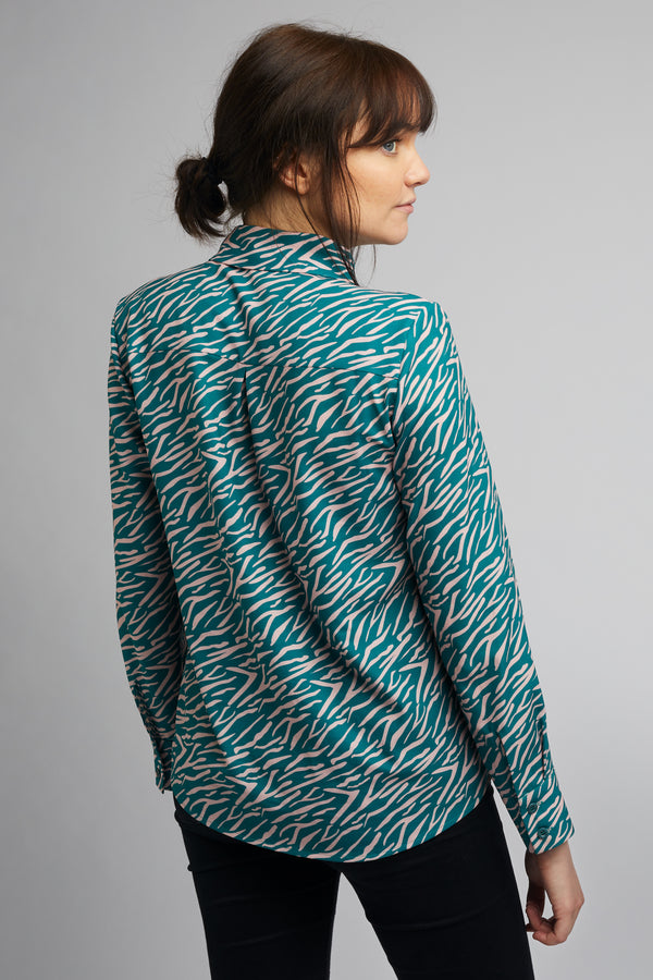 Women's Classic Long Sleeve Shirt in Shima Print