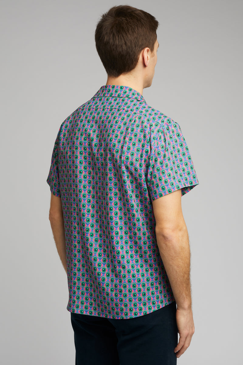 Cuban Collar Shirt in Eye of Newt Print