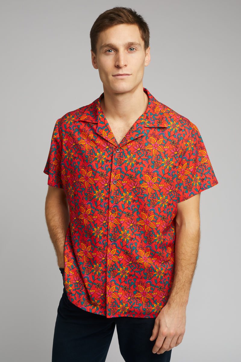 Cuban Collar Shirt in Kampot Print