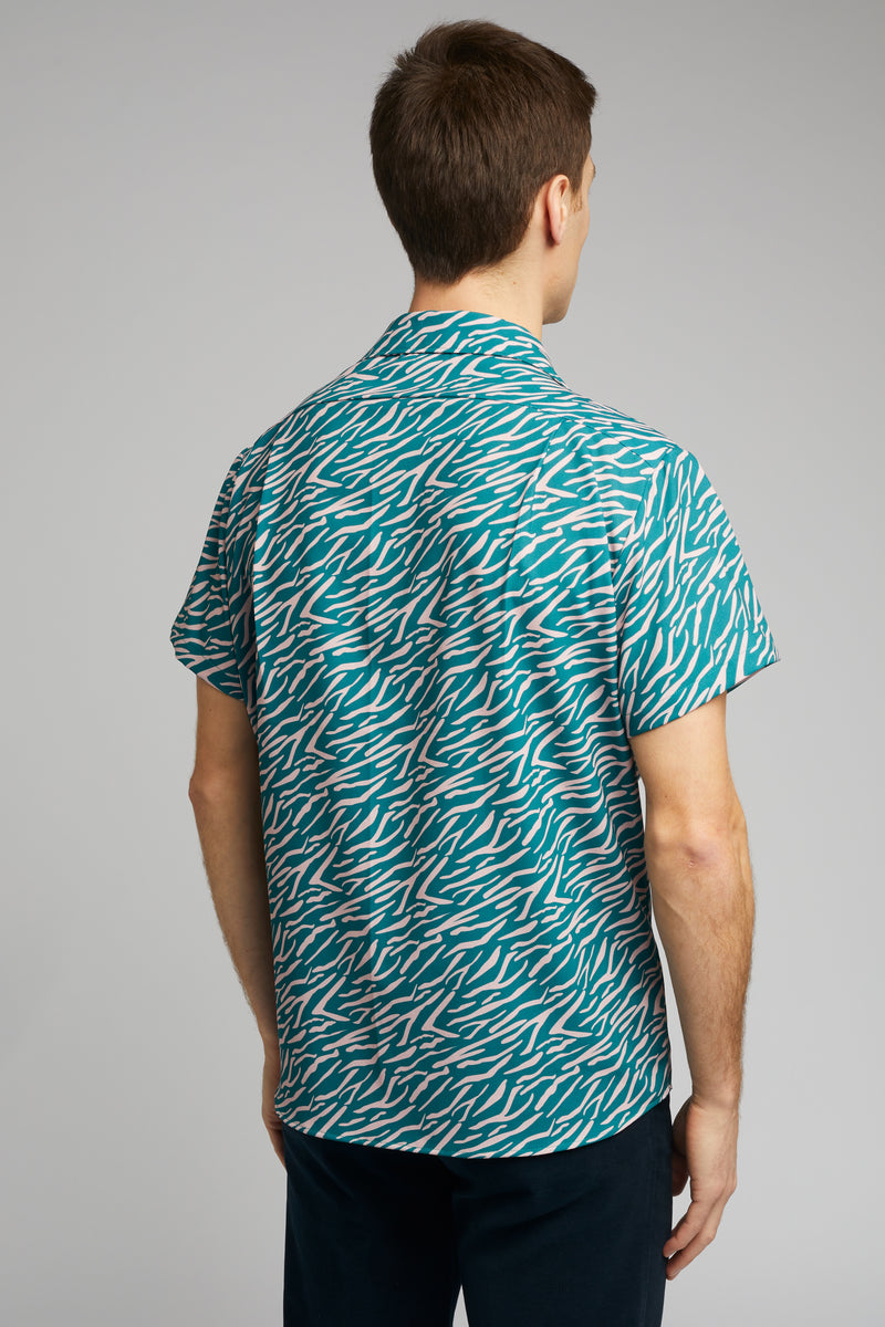 Cuban Collar Shirt in Shima Print