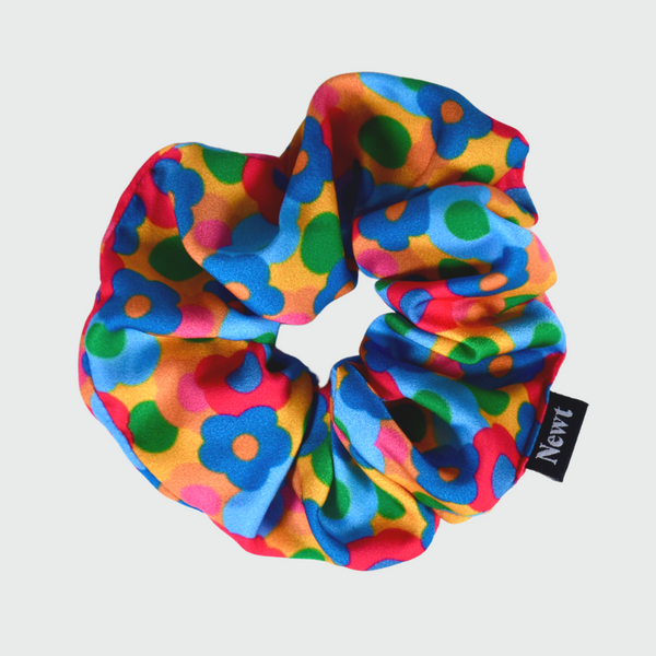 Bloom Print Floral Silky Scrunchie