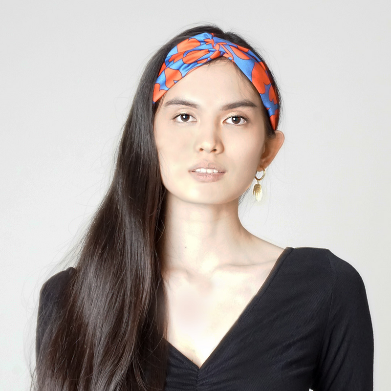 Heart Print Twist Knot Headband