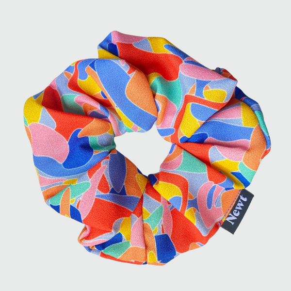 Kefi Print Multicolour Silky Scrunchie