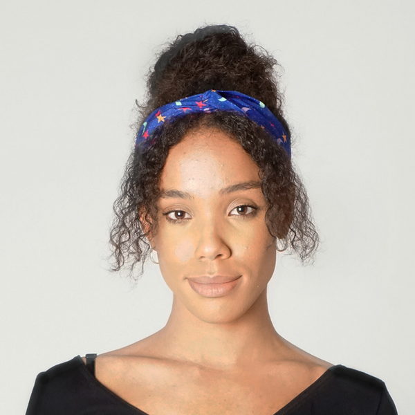 Friendly Moons Print Twist Knot Headband