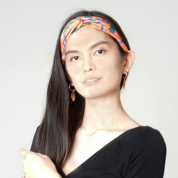 Zesty Print Twist Knot Headband