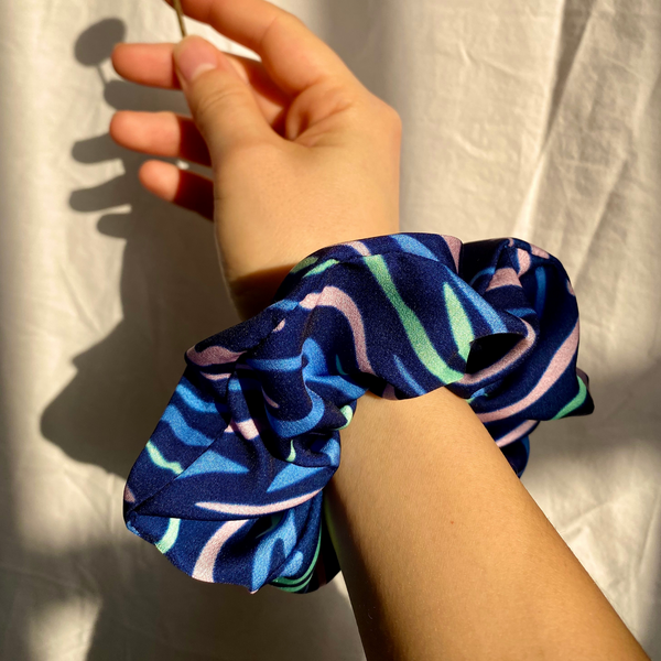 Shima Print Miami Hair Scrunchie