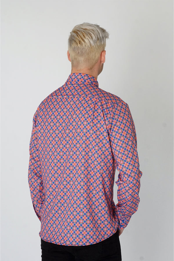 Men's Classic Long Sleeve Shirt in Ribeira Print