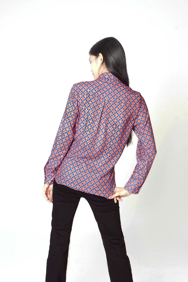 Women's Classic Long Sleeve Shirt in Ribeira Print