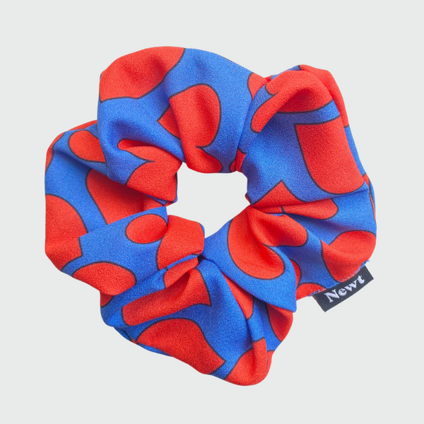 Heart Print Silky Scrunchie