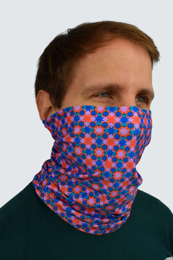 Pink Ribeira Print Neck Tube Snood