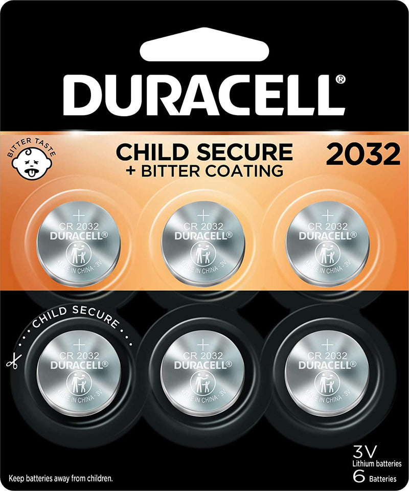 Duracell - 2032 3V Lithium Coin Battery  - 6 Count