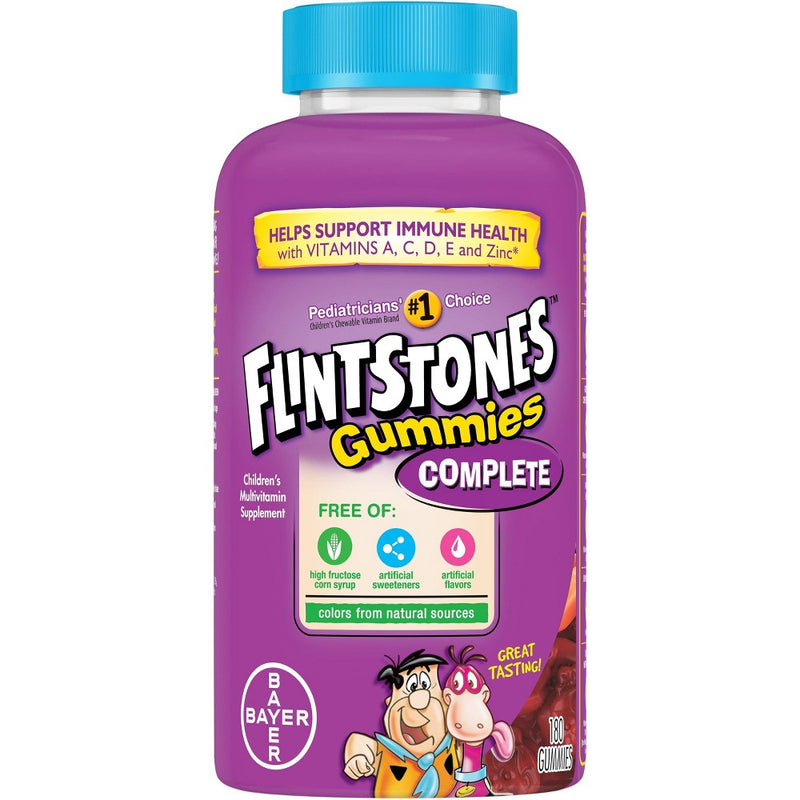 Flintstones Gummies Kids Vitamins, Gummy Multivitamin for Kids and Toddlers with Vitamins A, B6, B12, C, E, Zinc & more, 180ct