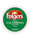 Folgers- 100% Colombian Decaf Medium Roast Coffee, 72 Count