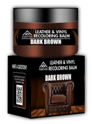 Coconix | Leather & Vinyl Recoloring Balm in Dark Brown | Leather Care Pro
