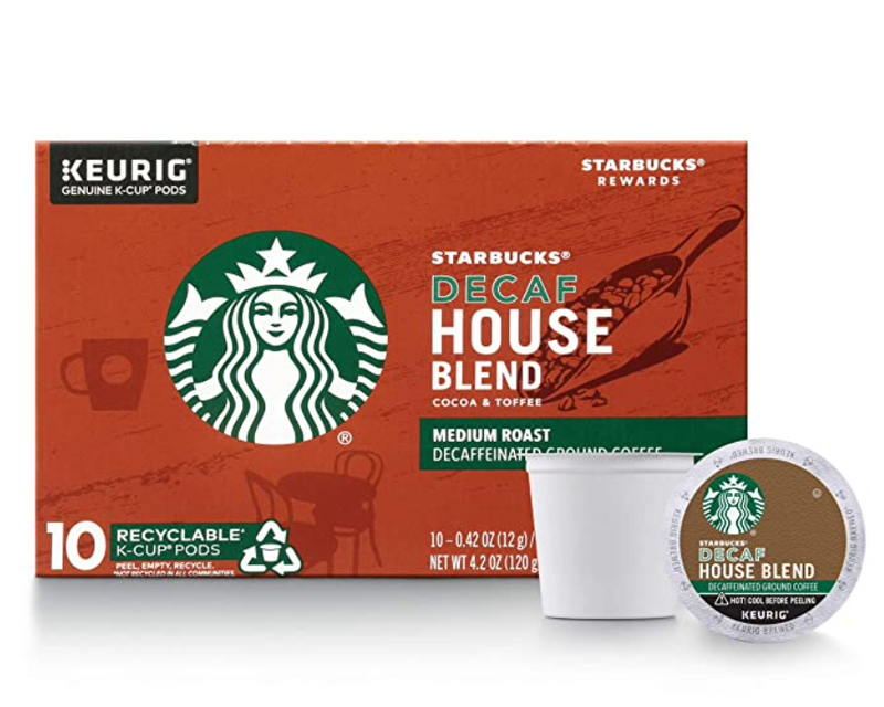 Starbucks Decaf House Blend Medium Keurig K-Cups, 20ct